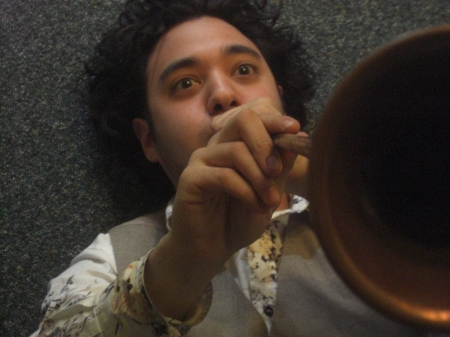And me playing a long bugle...